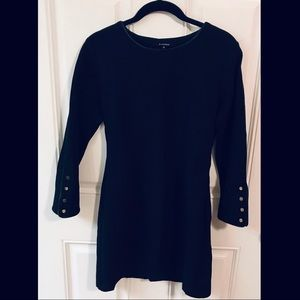 Olivaceous Black Gold Cuffed Dress Medium